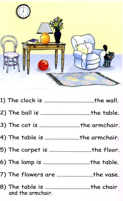 Preposition Of Place Pdf Exercises
