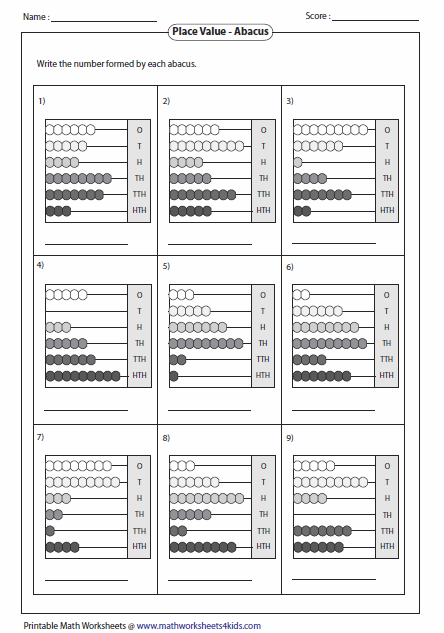Reading Abacus Worksheets
