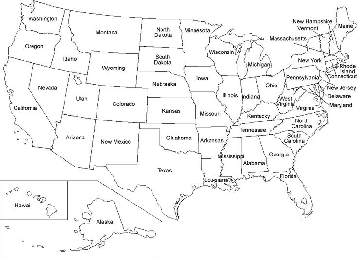 Printable Map Of The Us