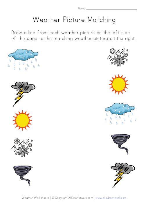 Weather Matching Worksheet