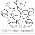Colours In English Worksheets