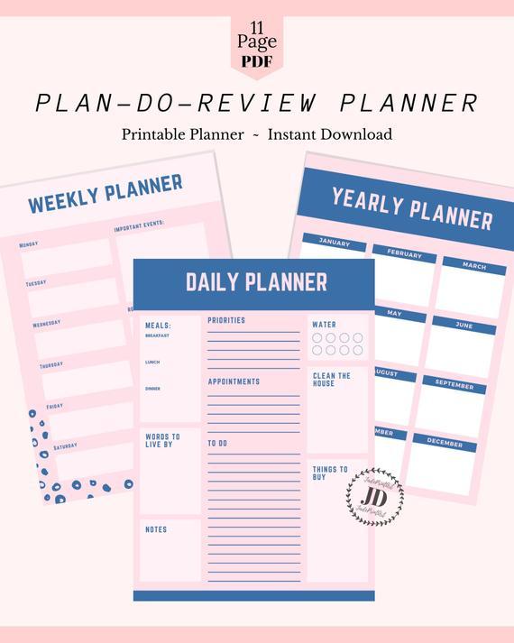 Printable Planner, Printable Organizer, Life Planner, Household