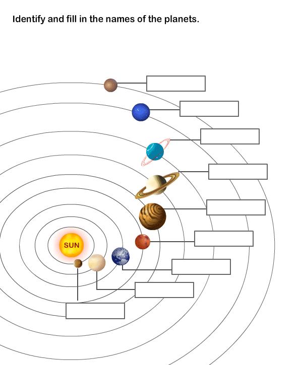 Solar System Worksheet 8
