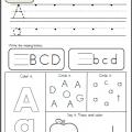 Preschool Writing Alphabet Worksheets