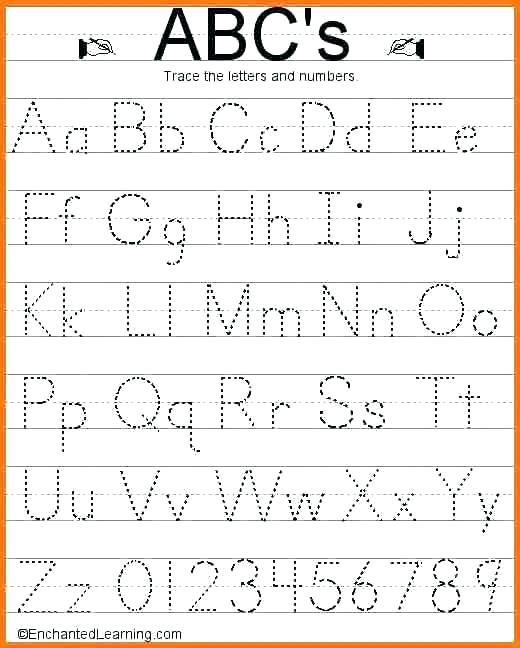 Abc Tracing Worksheets 5 Tracing Worksheets Alphabet Tracing