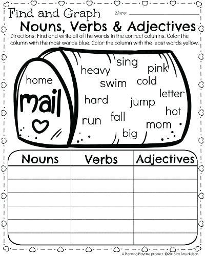 Adjective Worksheets For 1st Grade – Osklivkakatkapromena Info