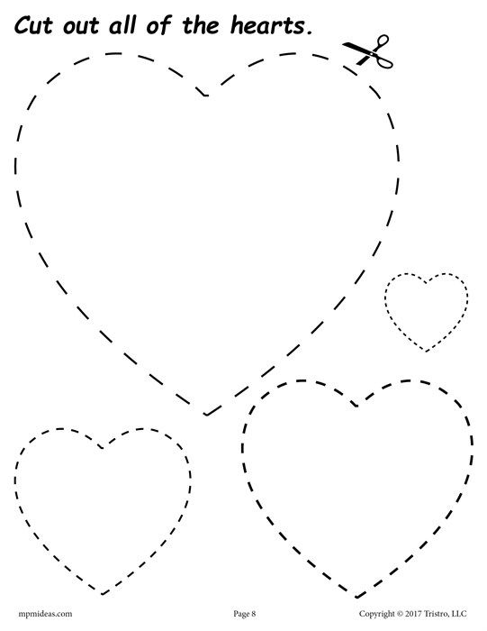 12 Printable Shapes Cutting Worksheets
