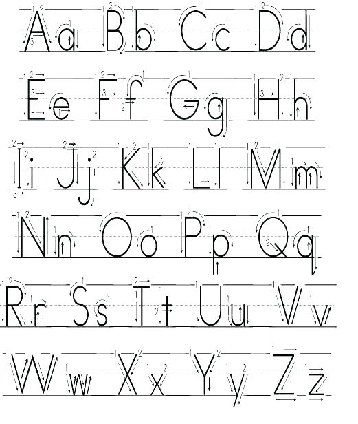 Alphabet Trace Printable Alphabet Trace Worksheet Luxury Printable