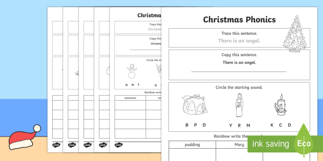 Christmas Phonics Worksheet   Worksheet