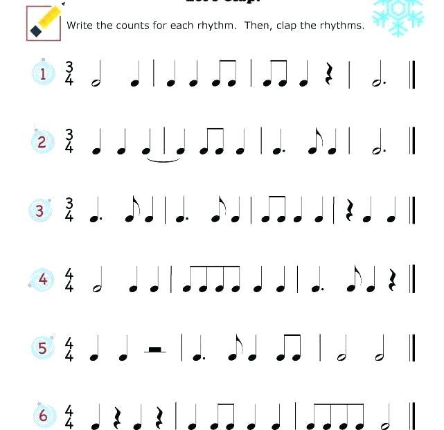 Basic Rhythm Worksheets Rhythms Free Rhythm Counting Worksheets