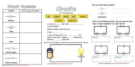 Electricity & Circuits Worksheets
