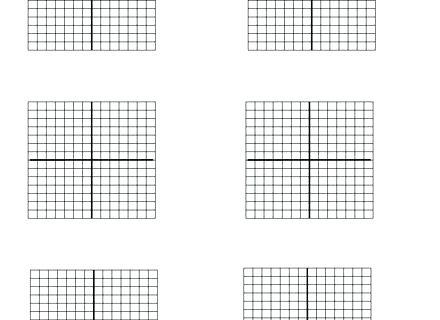 Quadrant 1 Coordinate Plane Graph Paper