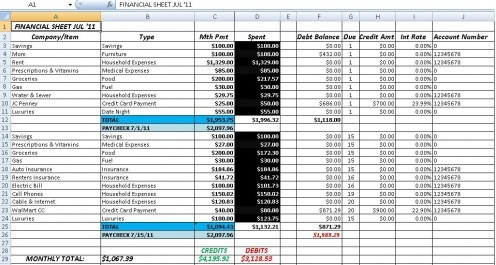 Excel Accounting Templates