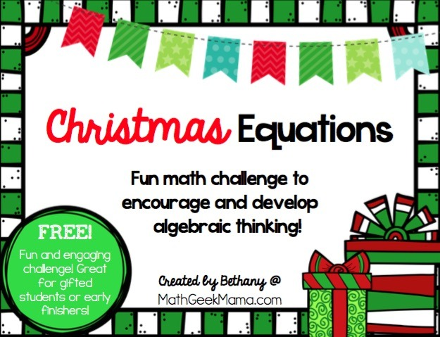 Christmas Equations Challenge