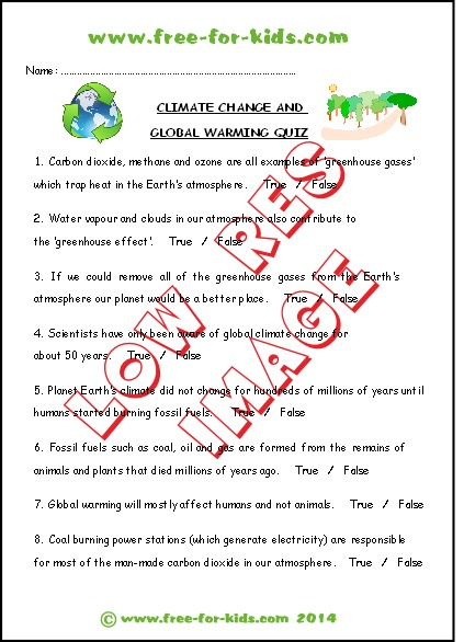 Children's Environment Quizzes