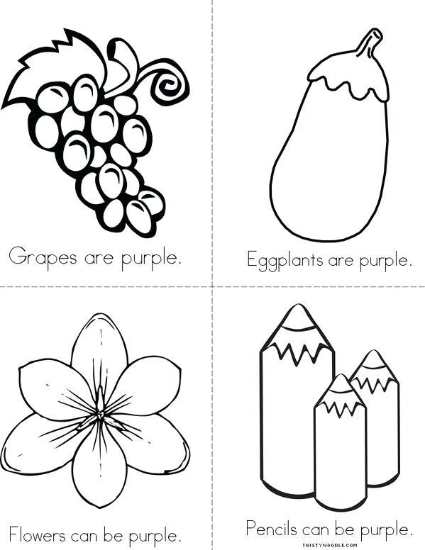 Color Purple Worksheets For Kindergarten Toddlers Orange Kids
