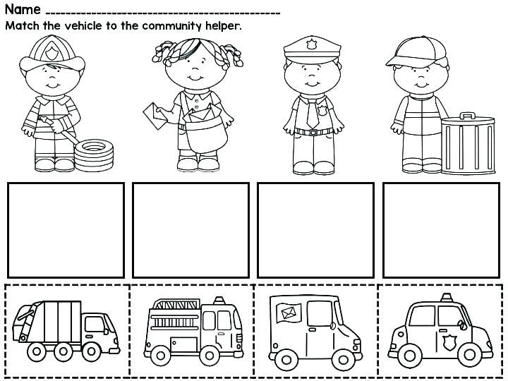 Community Helpers Worksheets 1st Grade
