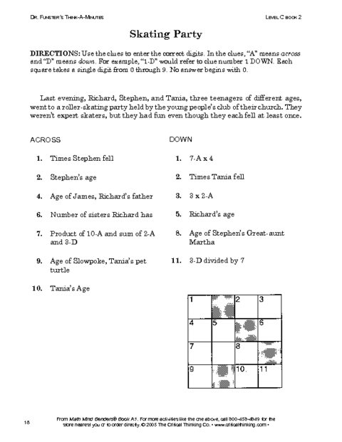 Critical Thinking Reading Worksheet