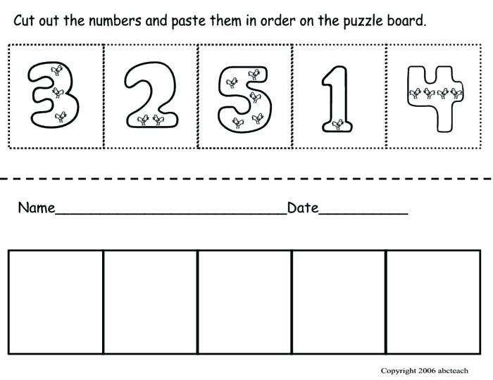 Cut And Paste Worksheets Kindergarten Free Printable Kindergarten