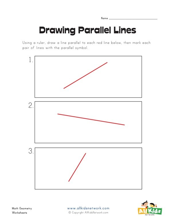 Drawing Parallel Lines Worksheet