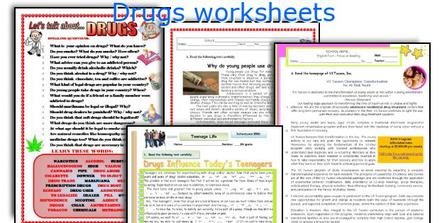 Drugs Worksheets