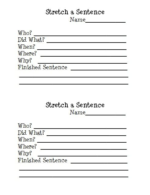 Stretch A Sentence Free Writing Worksheet Download!