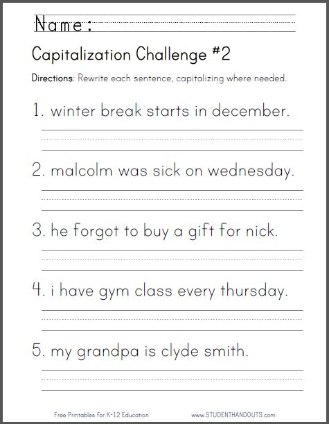 Capitalization Challenge  2