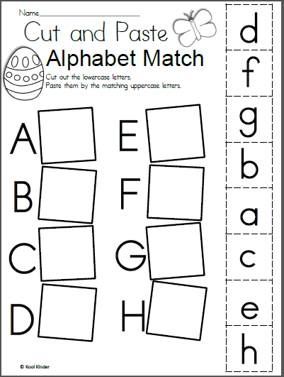 Free Easter Alphabet Cut And Paste Worksheets
