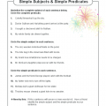 Simple Subject And Simple Predicate Worksheets