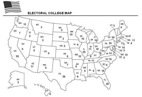 Electoral College Map Template
