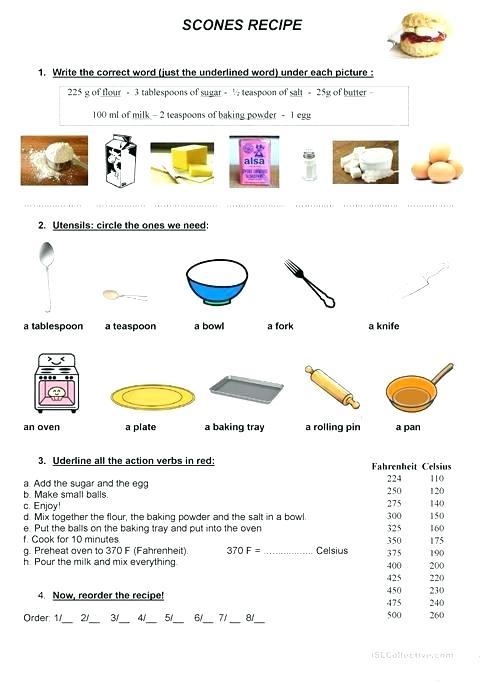 Esl Recipe Worksheets Pancake Recipe Esl Recipe Worksheets Pdf