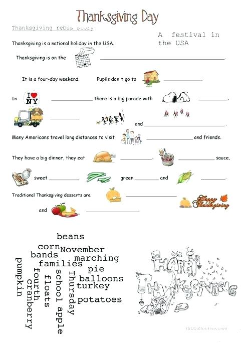 Esl Thanksgiving Worksheets Thanksgiving Worksheets Esl Canadian