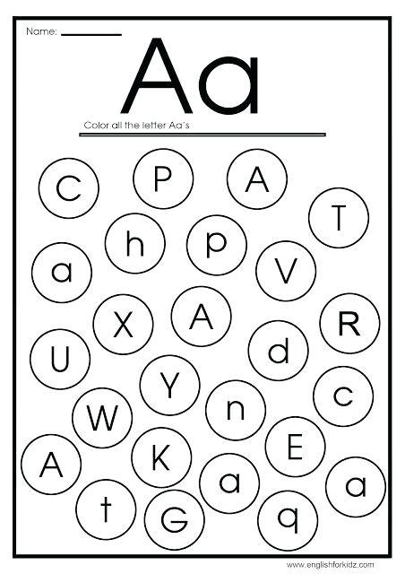 Find The Letter Worksheets Find Letter A Worksheet Find The Hidden
