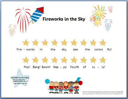 Fourth Of July Composition For Little Ones