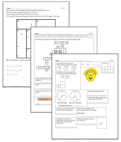 Free Fourth Grade Math Worksheets