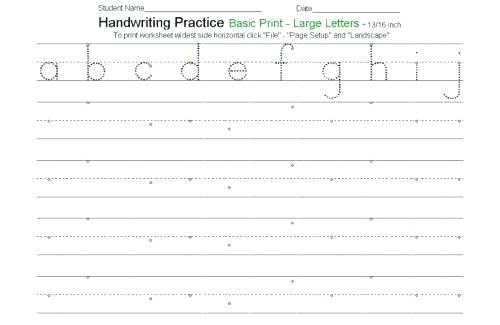 Free Handwriting Worksheets Kindergarten For All Download And