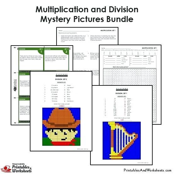 Grade Multiplication And Division Coloring Worksheets Grade 4