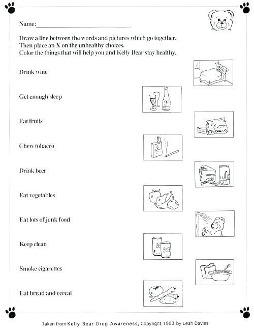 Healthy Food Adjectives Worksheets Activities Free For