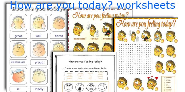 How Are You Today  Worksheets