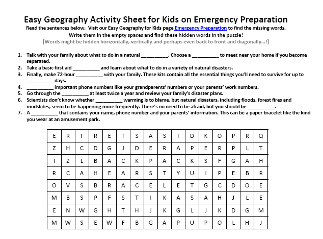 Printables  Emergency Preparedness Worksheet  Lemonlilyfestival