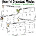 Math First Grade Worksheets