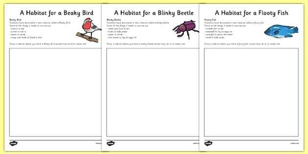 Imaginary Animal Habitat Worksheets Science Year 1 Habitats Ks2