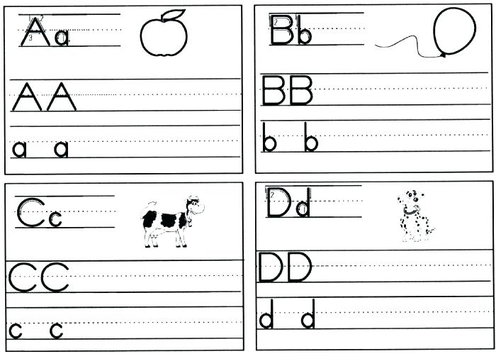 Kindergarten The Alphabet Worksheets Free Printable For Download