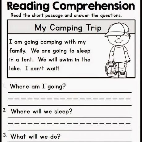 Kindergarten Worksheets Reading For Printable ⋆ Free Printables