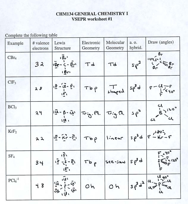 Lewis Structure Worksheets With Answers