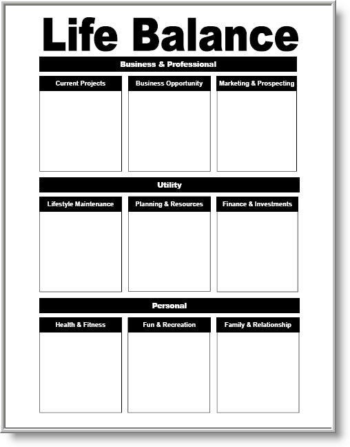 Download  Life Balance Planning Worksheet