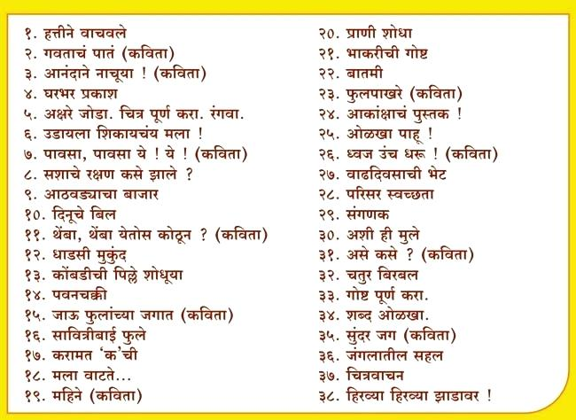 Marathi Worksheets For Grade 2 Second Standard A 3 4 Buy