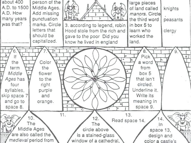 Multiplication Printable Worksheets Middle Ages Reading