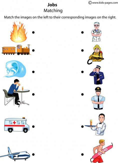 Jobs Matching 3 Worksheet