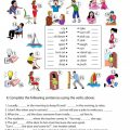 Verb Printable Worksheets